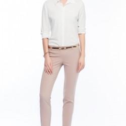 Kemerli Bej Pantolon İroni 2015 Modelleri