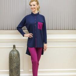 Lacivert Yeni Sezon Tuay Karaca Tunik Modelleri