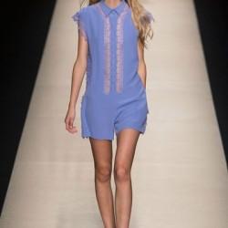 Mavi Elbise Alberta Ferretti 2015 İlkbahar - Yaz Koleksiyonu
