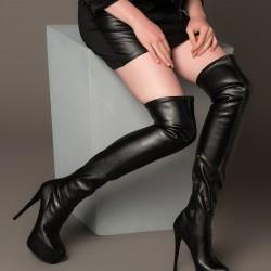 Siyah Çizme 2015 Fox Ayakkabı Modelleri