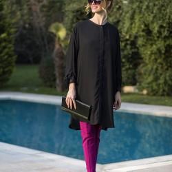 Siyah Yeni Sezon Tuay Karaca Tunik Modelleri