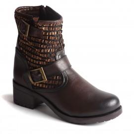 Zımba Detaylı Kahve Bot İnce Topuk 2015 Ayakkabı Modelleri