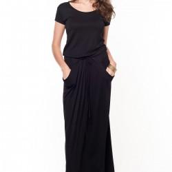 Dökümlü Elbise Siyah Kıyafet Modelleri