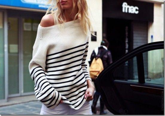 Düşük Omuz 2015 Breton Bluz Modelleri