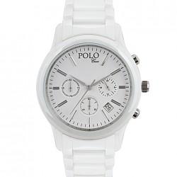 Düz Beyaz Polo Croco Bayan Saat Modelleri