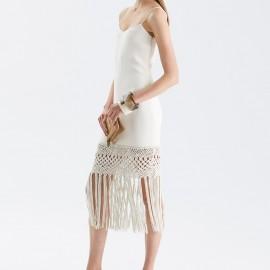 Dantelli Beyaz Elbise Ralph Lauren 2015 Sonbahar Modelleri