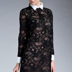 Dantelli Siyah Elbise 2015 İpekyol İlkbahar - Yaz Modelleri