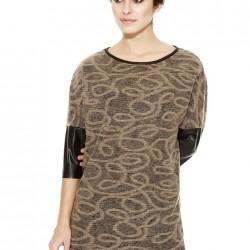 Deri Detaylı Bluz Yeni Sezon Afrodit Modelleri