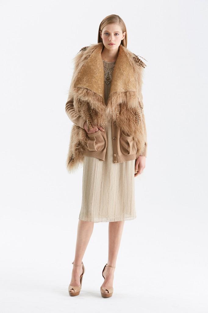 Kürk Detaylı Hırka Ralph Lauren 2015 Sonbahar Modelleri