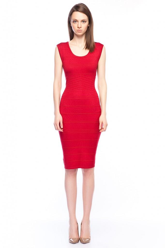 Kırmızı Elbise Betty Barclay 2015 Modelleri