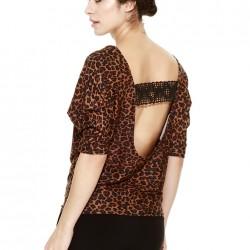 Leopar Desenli Bluz Yeni Sezon Afrodit Modelleri