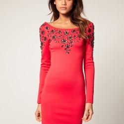 Süslemeli Pembe Elbise Modelleri