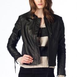 Siyah Deri Ceket 2015 Levi's Modelleri