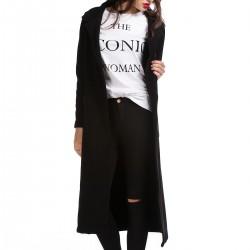 Siyah Uzun Hırka 2015 Sokak Modası Modelleri