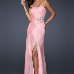 Taş Süslemeli Pembe Elbise Modelleri