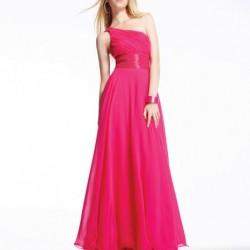 Tek Omuz Pembe Elbise Modelleri