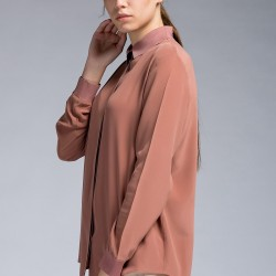 Toprak Rengi Gömlek 2015 İpekyol Modelleri