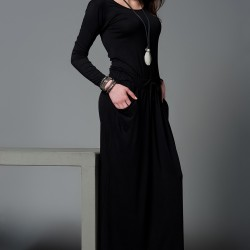 Uzun Elbise Siyah Kıyafet Modelleri