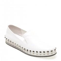 Zımba Detaylı Beyaz 2015 Prada Ayakkabı Modelleri