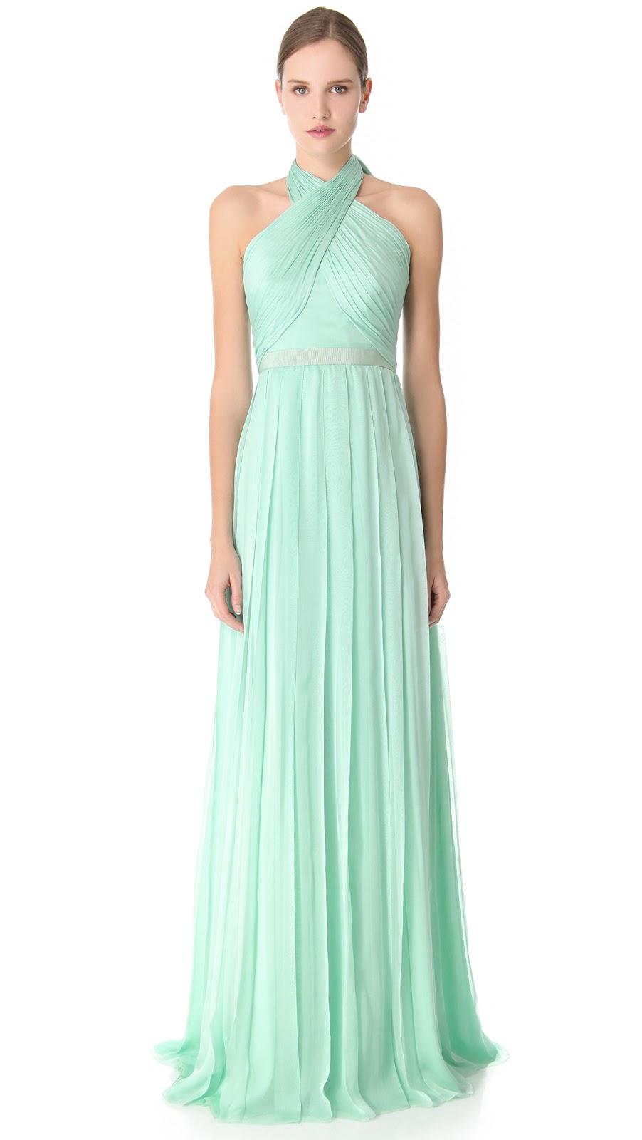 87856db6a0536 Çapraz Askılı Uzun Mint Yeşili Elbise Modelleri »