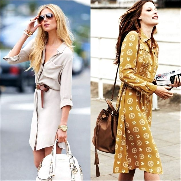 2015 Gömlek Elbise Modelleri