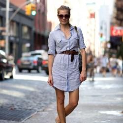 Açık Renkli Gömlek Elbise Modelleri