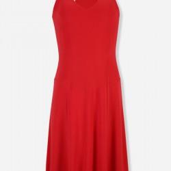 Askılı Kırmızı Vakko Elbise Modelleri