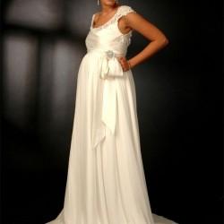 Beyaz Yeni Sezon Hamile Abiye Modelleri