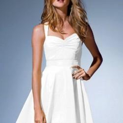 Beyaz Yeni Sezon Kloş Abiye Modelleri