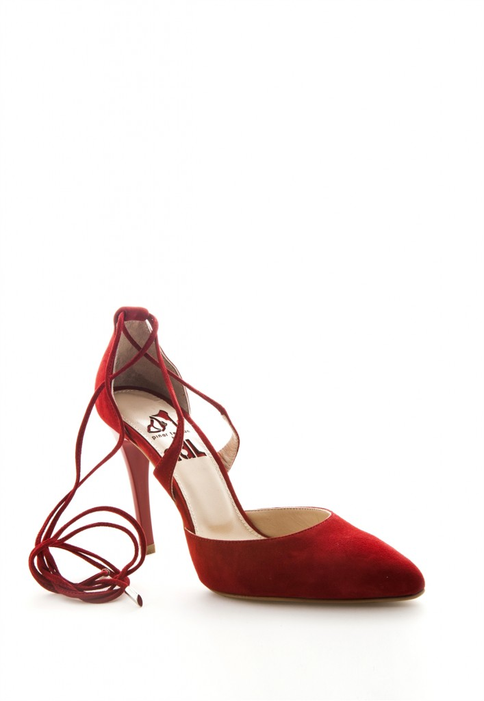 Bilekten Bağlamalı Kırmızı Adil Işık Ayakkabı Modelleri