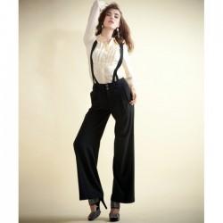 Bol Paça Bayanlar İçin Askılı Pantolon Modelleri
