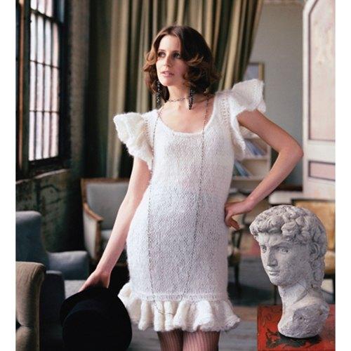 Dantel Detaylı Beyaz Yeni Sezon Kolları Volanlı Elbise Modelleri