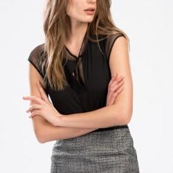 Dantelli Siyah Park Bravo 2015 Bluz Modelleri