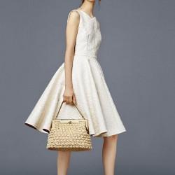 Ekru Yeni Sezon Kloş Elbise Modelleri