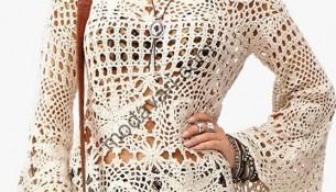Gösterişli Yeni Sezon Örgü Elbise Modelleri