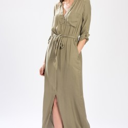 Haki Setre Elbise Modelleri