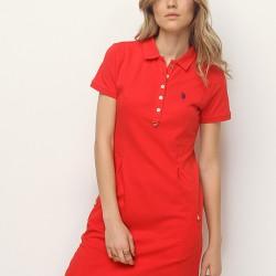 Kırmızı Elbise U.S. Polo 2015 Modelleri