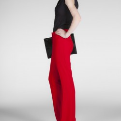 Kırmızı Yeni Sezon İspanyol Paça Pantolon Modelleri