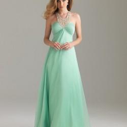Kolsuz Mint Yeşili Elbise Modelleri