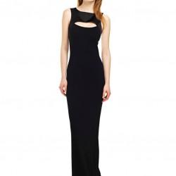 Kolsuz Siyah Yeni Sezon Bayramlık Elbise Modelleri
