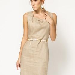 Kolsuz Yeni Sezon Keten Elbise Modelleri