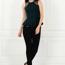 Kolsuz Zümrüt Yeşili Adil Işık Bluz Modelleri