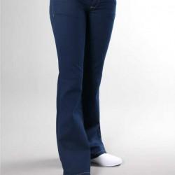 Koyu Mavi Kot Yeni Sezon İspanyol Paça Pantolon Modelleri