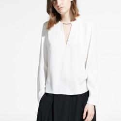 Metal Aplikeli Beyaz Yeni Sezon Mango Bluz Modelleri
