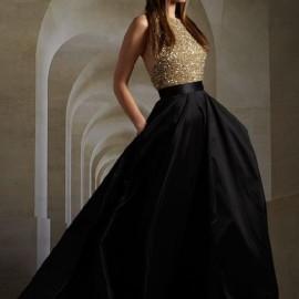 Payetli Siyah Yeni Sezon Cepli Abiye Modelleri