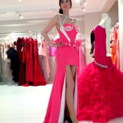 Pembe Yeni Sezon Mezuniyet Elbise Modelleri