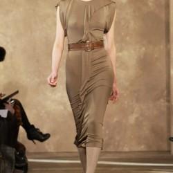 Sade Toprak Rengi Elbise Modelleri