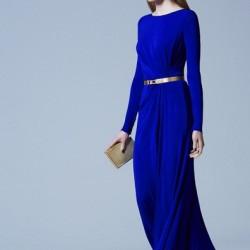 Saks Mavisi Yeni Sezon Bayramlık Elbise Modelleri