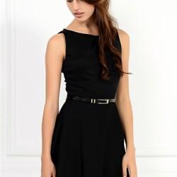Siyah Mini Yeni Sezon Kloş Elbise Modelleri