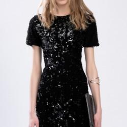 Siyah Payetli Elbise TopShop Yeni Sezon Modelleri